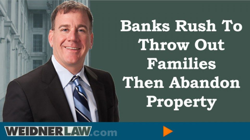 banks rush to thow out families