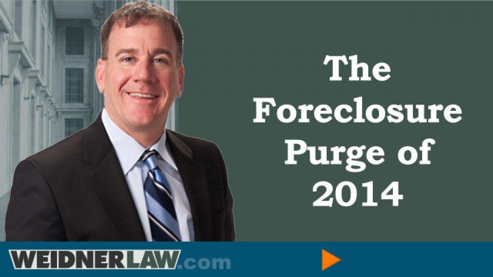 foreclosure purge of 2014