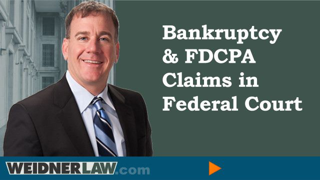 A Deluge of Fair Debt Collection Cases In Bankruptcy Court- Crawford v. LVNV Funding