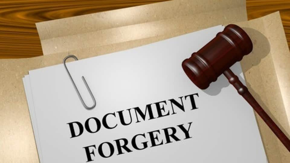 forged mortgage documents