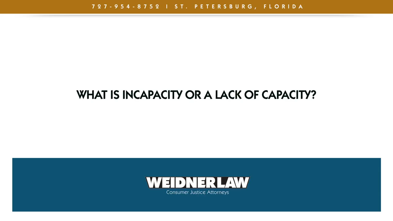 What is incapacity or a lack of capacity?