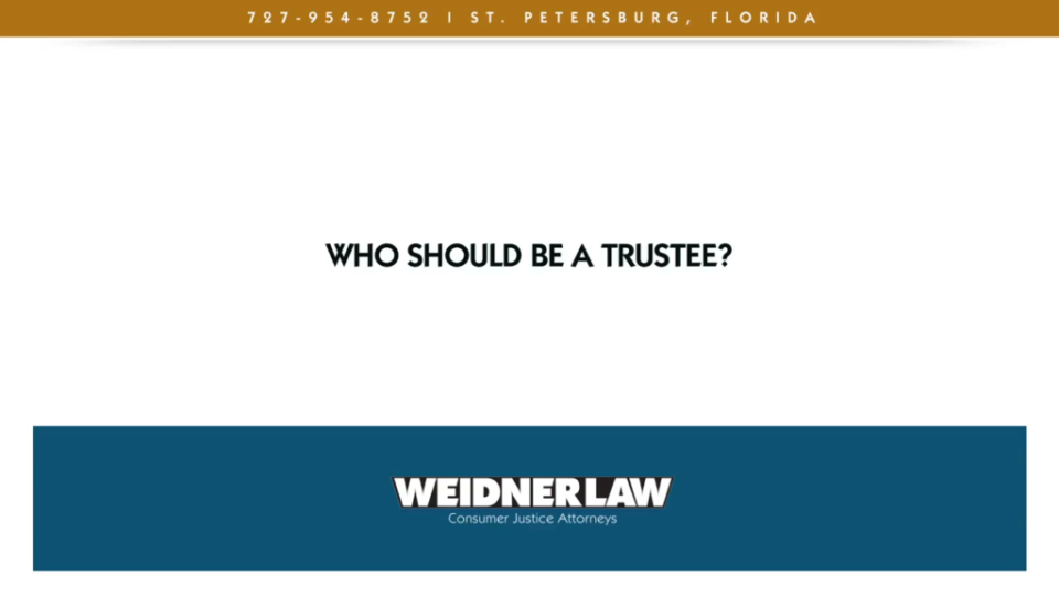 Who should be a trustee?
